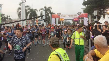 Summarecon Mall Serpong bersama Summarecon Serpong untuk ketiga kalinya mengadakan kompetisi lari yaitu Serpong Green Warrior Run 2018. - INDOSPORT