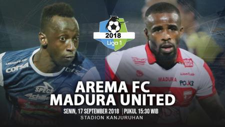 Arema FC vs Madura United. - INDOSPORT