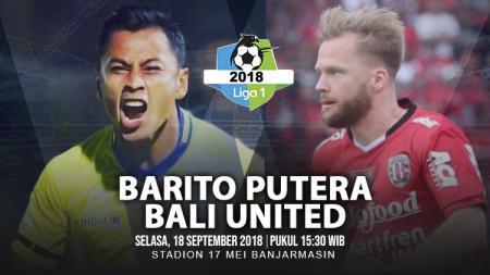 Barito Putera vs Bali United. - INDOSPORT
