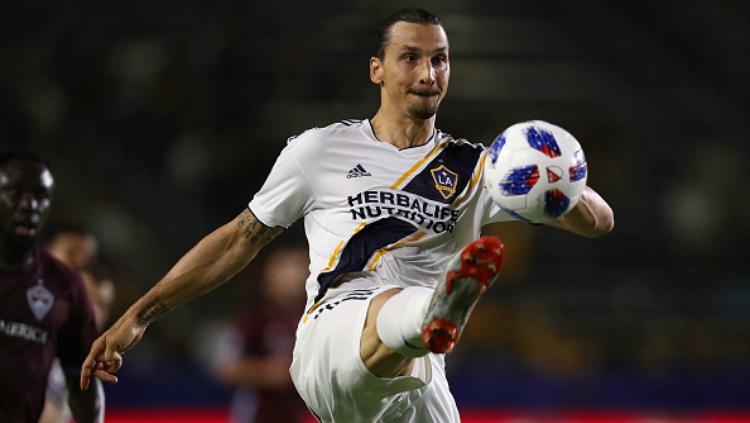 Zlatan Ibrahimovic di LA Galaxy. Copyright: INDOSPORT