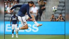 Indosport - Zlatan Ibrahimovic, striker LA Galaxy.
