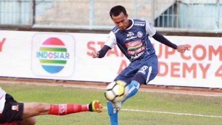 Sunarto kembali merumput bersama Arema FC di Liga 1 2018, Senin (17/09/18) vs Madura United. - INDOSPORT