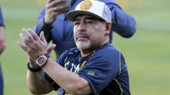 Indosport - Legenda sepak bola Argentina, Diego Maradona, merasa prihatin melihat kondisi perekonomian di negaranya yang terus memburuk akibat pandemi virus corona.