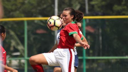 Portia Fischer, bek tengah Timnas U-16 putri di kualifikasi Piala Asia U-16 di Kirgistan - INDOSPORT