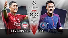 Indosport - Liverpool vs Paris Saint-Germain (Prediksi).