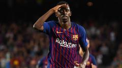 Indosport - Ousmane Dembele, striker muda Barcelona.