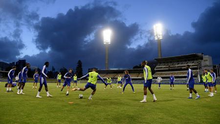 Chelsea FC saat sedang latihan. - INDOSPORT