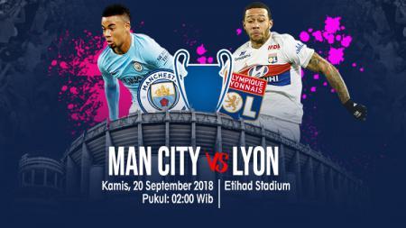 Manchester City vs Olympique Lyon. - INDOSPORT