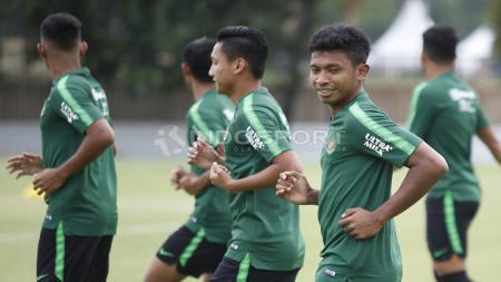 Latihan fisik latihan Timnas Indonesia U-19. - INDOSPORT