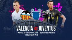 Indosport - Valencia vs Juventus.