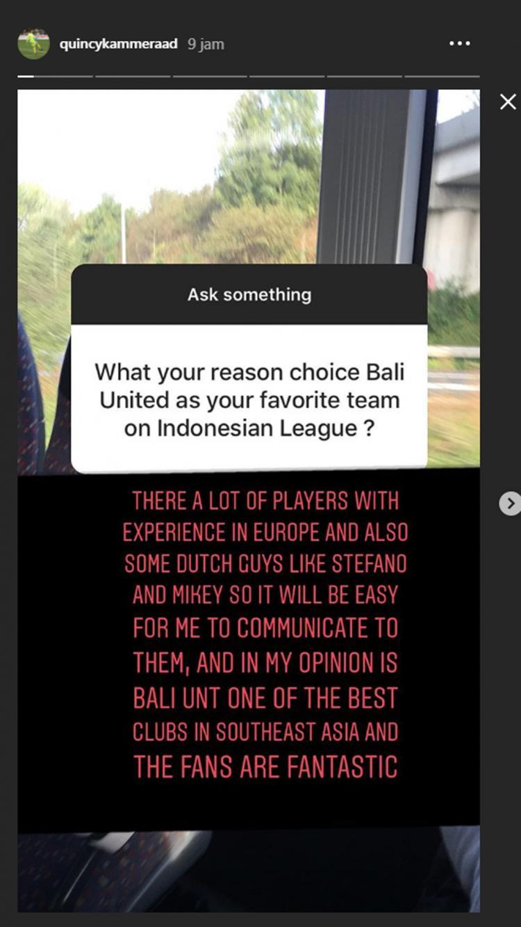 Kiper muda Filipina, Quincy Kameraad ungkap alasan memfavoritkan Bali United. Copyright: Instagram/quincykammeraad