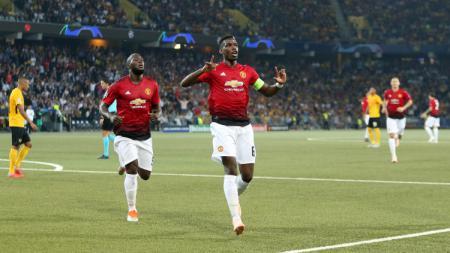 Paul Pogba saat merayakan golnya ke gawang Young Boys - INDOSPORT