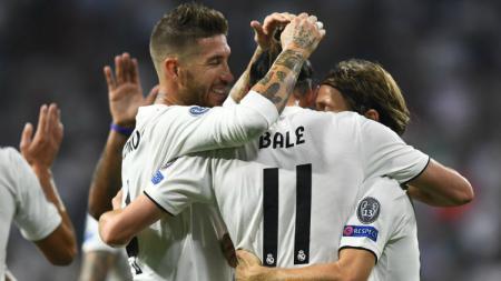 Gareth Bale mendapat dukungan dari kapten Real Madrid, Sergio Ramos, di tengah-tengah rumornya akan pergi. - INDOSPORT