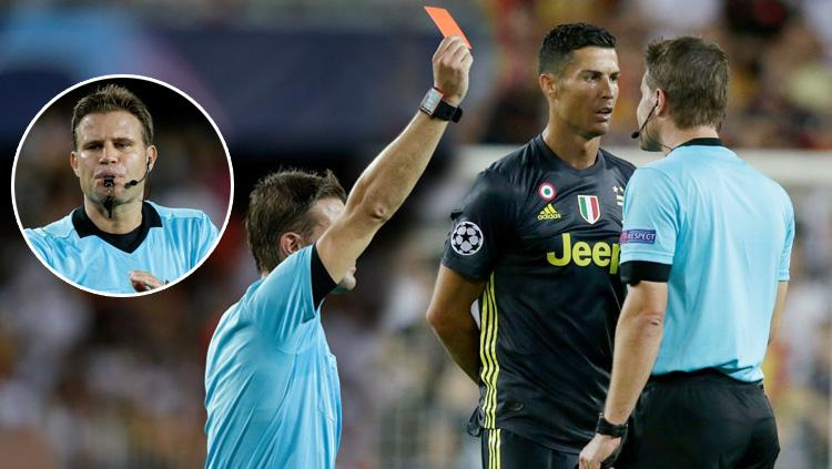 Felix Brych wasit pemberi kartu merah Cristiano Ronaldo. Copyright: INDOSPORT