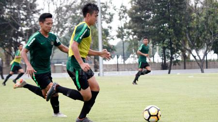 Khairul Imam Zakiri mengikuti latihan Timnas Indonesia U-19. - INDOSPORT