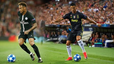 Neymar dan Cristiano Ronaldo. - INDOSPORT