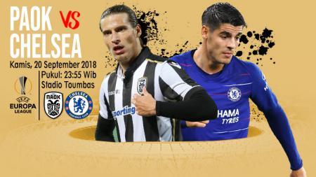 Paok vs Chelsea. - INDOSPORT