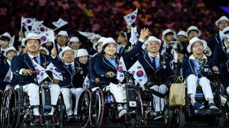 Kontingen Korea Selatan di Asian Para Games. - INDOSPORT