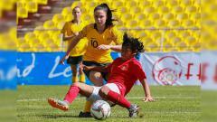Indosport - Timnas Putri U-16 vs Australia di Kualifikasi Piala Asia U-16 2018.