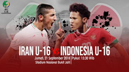 Iran U-16 vs Indonesia U-16. - INDOSPORT