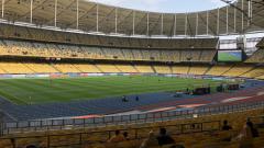 Indosport - Suasana Stadion Bukit Jalil sebelum laga perdana Piala Asia U-16.