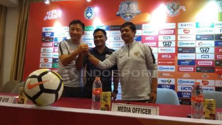 Pelatih Timnas Indonesia U-19, Indra Sjafri cukup antusias jelang laga uji coba menghadapi China dan Thailand. - INDOSPORT