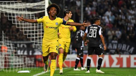 Bintang Chelsea, Willian mengaku siap menghadapi Liverpool di Anfield, Minggu (14/04/19). - INDOSPORT