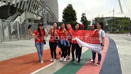 Tenaga kerja Indonesia di Malaysia, datang ke Stadion Bukit Jalil untuk menyaksikan langsung Timnas U-16 di laga Piala Asia U-16 - INDOSPORT
