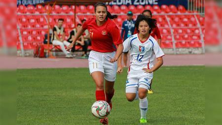 Portia Fischer di laga Timnas Putri U-16 vs Taiwan U-16 di Kualifikasi Piala Asia U-16 2018. - INDOSPORT