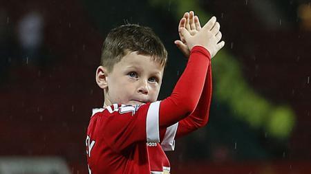 Kai Rooney, anak dari Wayne Rooney yang pernah berstatus pemain akademi Manchester City. - INDOSPORT