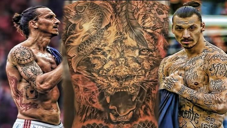 Ibra pernah mempunyai 50 tato yang disematkannya sebagai kampanye kemanusiaan Copyright: sokka