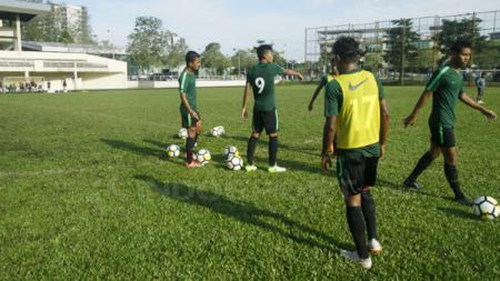Suasana latihan Timnas Indonesia U-16. - INDOSPORT