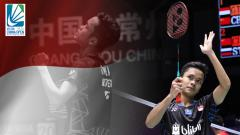 Indosport - Anthony Ginting lolos ke final China Open 2018.
