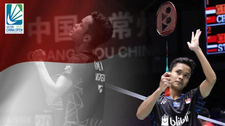 Anthony Ginting lolos ke final China Open 2018. - INDOSPORT