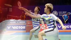 Indosport - Ganda putra Indonesia, Kevin Sanjaya Sukamuljo/Marcus Fernaldi Gideon.