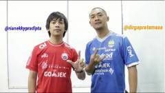 Indosport - Rian D'Masiv dan Dirga Pratama suarakan perdamaian jelang Persib Bandung vs Persija Jakarta