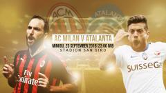 Indosport - AC Milan vs Atalanta.