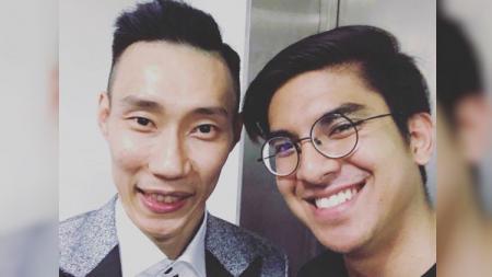 Lee Chong Wei bersama Menpora Malaysia, Syed Saddiq. - INDOSPORT