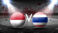 Indosport - Timnas Indonesia vs Thailand.