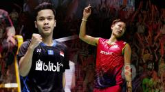 Indosport - Berikut link live streaming pertandingan wakil Indonesia di final BWF World Tour Finals 2019 hari ini, Minggu (15/12/19).