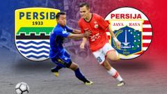 Indosport - Laga Persib Bandung vs Persija Jakarta.