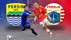 Indosport - Persib Bandung vs Persija Jakarta.
