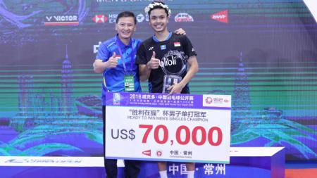 Pelatih tunggal putra PBSI, Hendry Saputra memberikan komentarnya soal hasil anak didiknya di pagelaran Indonesia Masters 2020. - INDOSPORT