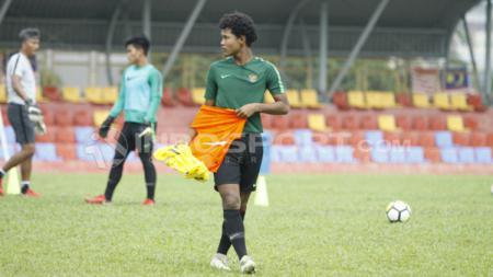 Penyerang masa depan Timnas Indonesia, Bagus Kahfi membeberkan kunci kemenangan yang didapat Garuda Select atas Preston North End U-18, Selasa (25/02/20). - INDOSPORT