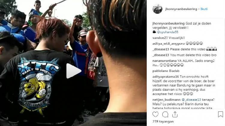 Pesan Jhonny van Beukering atas tewasnya Jakmania di laga Persib vs Persija. Copyright: instagram/jhonnyvanbeukering