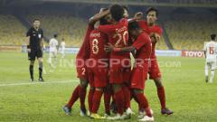 Indosport - Selebrasi Timnas Indonesia U-16 di laga vs Vietnam U-16.