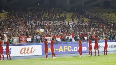 Selebrasi pemain Timnas Indonesia U-16. - INDOSPORT