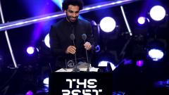 Indosport - Mohamed Salah raih gelar Puskas Award 2018.