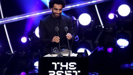 Mohamed Salah raih gelar Puskas Award 2018. - INDOSPORT