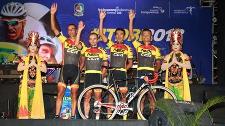Sejumlah atlet sepeda peserta ITdBI 2018. - INDOSPORT